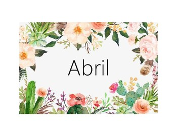 Months of the Year-Spanish