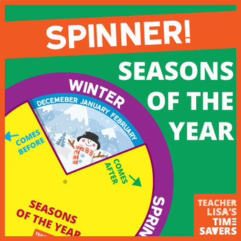 Months of the Year Spinner - VIPKid Level 2 and 3