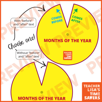 Months of the Year Spinner - VIPKid Level 3 A Year on Earth
