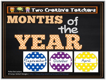Months of the Year Spotted Circles Theme