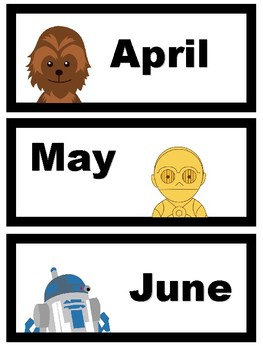 Months of the Year: Star Wars