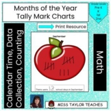 Months of the Year Tally Mark Charts for Calendar Time