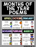 Months of the Year Themed Monthly Poems Songs