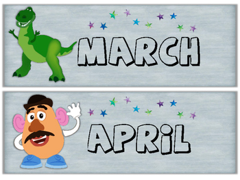 Months of the Year Toy Story Theme