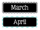 Months of the Year {Turquoise, Black, & Grey}