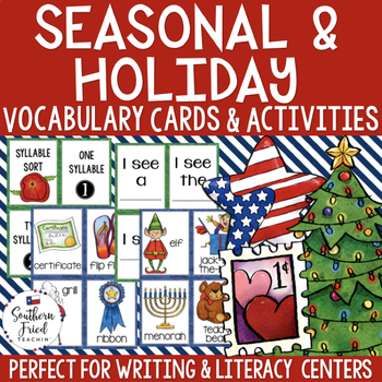 Months of the Year Vocabulary Cards & Activities