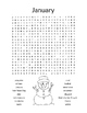 Months of the Year Word Search Puzzles / Monthly Vocabulary / 3rd Grade