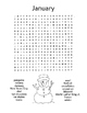 Months of the Year Word Search Puzzles / Monthly Vocabulary / 2nd Grade