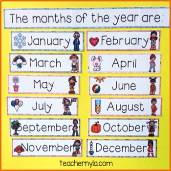 Months of the Year Word Wall
