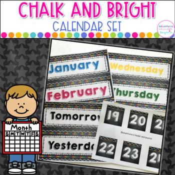 Calendar Set- Chalkboard Style