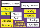 Months of the Year and Days of the Week - Printables
