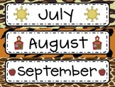 Months of the Year and Days of the Week {with sassy animal print!}