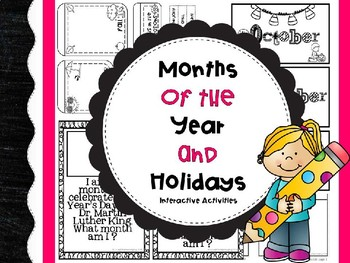 Months of the Year and Holidays Interactive Activities
