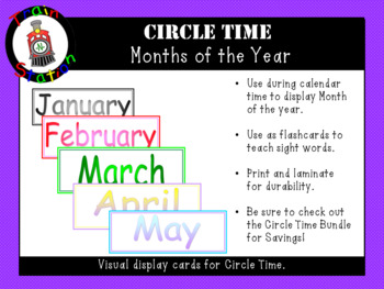 Months of the Year (display cards)