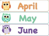 Months of the Year for your Owl Theme!
