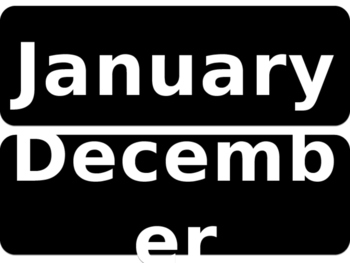Months of the Year in Black and White Editable