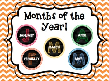 Months of the Year in Chalkboard Circles