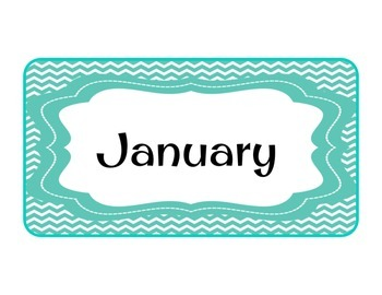 Months of the Year in Chevron
