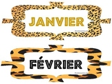 Months of the Year in French, English, Spanish animal print