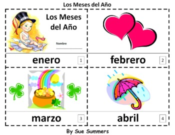 Spanish Months of the Year 2 Emergent Reader Booklets - Los Meses del Año