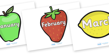 Months of the Year on Fruit