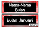 Months of the Year poster FLASHCARDS bahasa Indonesia ~ LOTE  chart Indonesian