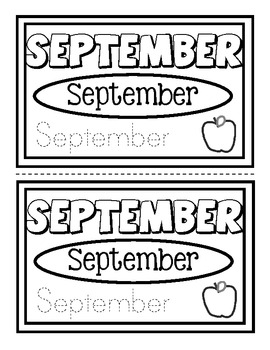 Months of the Year, simple half-sheets