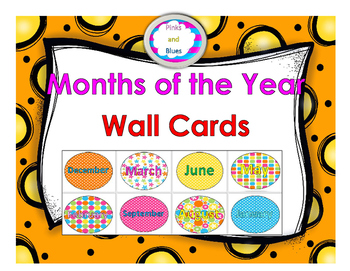 Months of the Year Wall cards