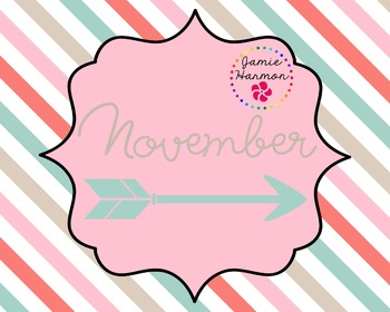 Months of the Year with Arrow Accents