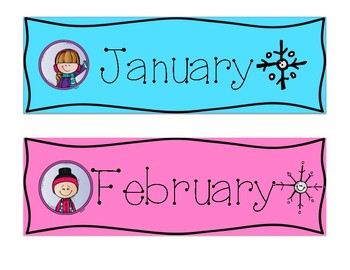 Months of the Year with Clip Art!