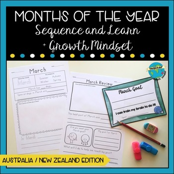 Months of the Year with Growth Mindset