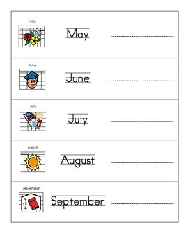 Months of the Year with Pictures