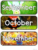 Months of the Year with Real Photographs