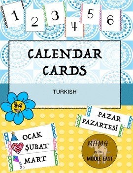 Months of the Year/Calendar Numbers -Turkish