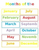 Months of the Year/Days of the Week Poster