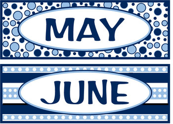 Months of the year - Navy & Light Blue