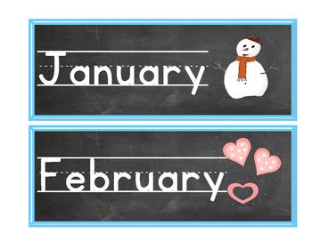 Calendar - Months of the year
