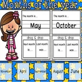 Months of the year Digital product.