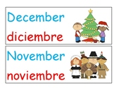 Months of the year Dual Language