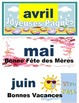 Months of the year FRENCH