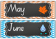 Months of the year and days of the week - display charts/flashcards