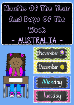 Months of the year and days of the week - display charts/f