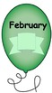 Months of the year birthday balloons