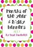 Months of the year & birthday banners set 1