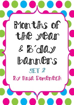 Months of the year & birthday banners set 2