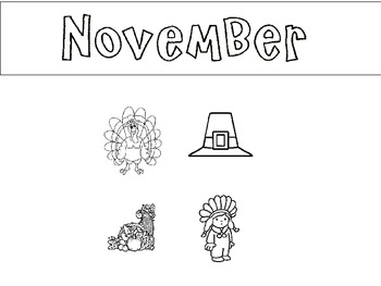 Months of the year bookmarks