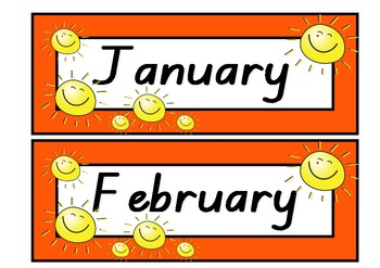months of year printables with pictures teaching resources
