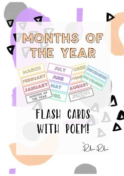 Months of the year flash cards or display