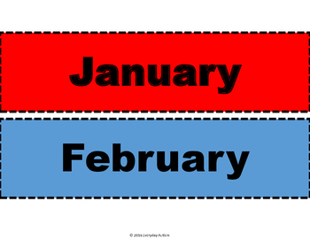 Months of the year for Calendar use