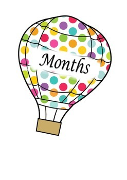 Months of the year hot air balloon display